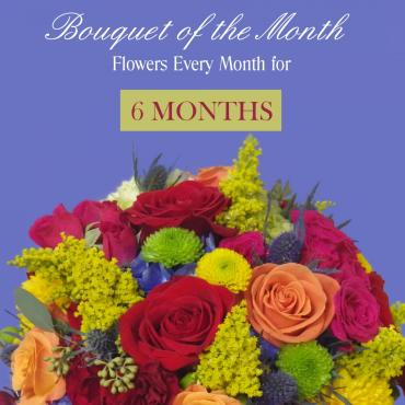 Bouquet Of The Month - 6 Months