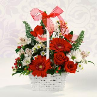 Red & White Delight Basket