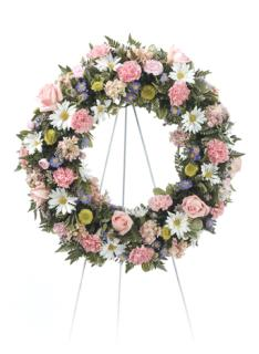 Pink/Peach Standing Wreath
