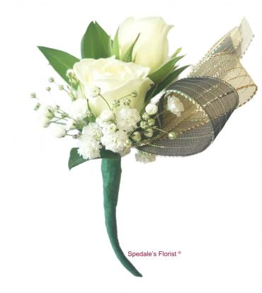 Piggyback Boutonniere With Ribbon