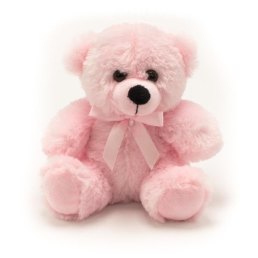"6"" Colorama Pink Bear"