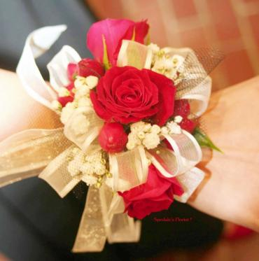 Special Red Rose Corsage